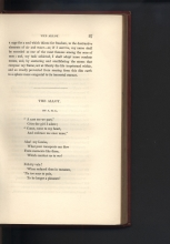 """Mary Shelley, """"The Mortal Immortal,"""" The Keepsake for 1834, p. 87. University of Victoria Libraries Special Collections. Call number: AY13 K4 1834. Image by Caroline Winter, taken on 7 Dec. 2017."""