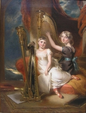 Portrait of Louisa Sharpe (1798–1843) and her Sister Eliza Sharpe (1796–1874) by George Henry Harlow (1787–1819). From www.porcelainista.net/?p=10961 [Public domain], via Wikimedia Commons.